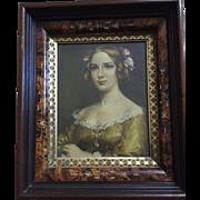 Eastlake frame (1880) Jenny Lind (1850) print: Cecil Golding: excellent condition: label on back: