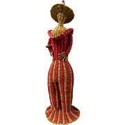 Folk Ethnic straw doll from Peru: 50-60s: perfect condition:
