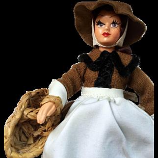 Vintage Collectors Costume Doll: Peggy Nisbet: BR360: Market Woman: Tutor woman: 60s