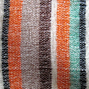 "Vintage: Hand Woven wool striped dresser scarf,  from 50s 36""x16"""
