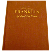 On Sale: Benjamin Franklin, Carl Van Doren, First Edition, excellent condition