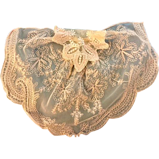 Vintage: Lacy Dikie: Embroidered: Blush: