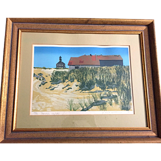 """Vintage: Serigraph: Block Island: North Light: Reduced: Series """"The Americans"""" J Neil Bittner"""": 26/50: limited edition: 1976"""
