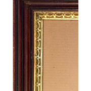 REDUCED: Antique Victorian frame: Gold leaf Trim design: 12 x 14 inches: Deep edge: ebony trim
