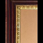 Antique Victorian frame: Gold leaf Trim design: 12 x 14 inches: Deep edge: ebony trim