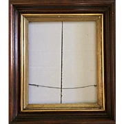 Antique Victorian frame: Gold leaf Trim design: 16 x 13 inches: Deep edge: ebony trim