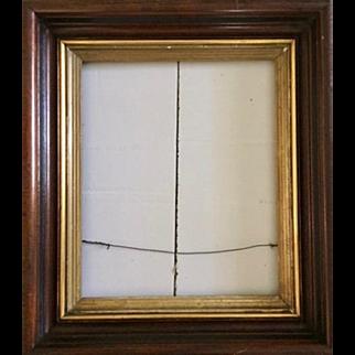 REDUCED: Antique Victorian frame: Gold leaf Trim design: 16 x 13 inches: Deep edge: ebony trim