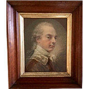 Antique Victorian frame: Gold leaf Trim: 12 x 14 inches: Deep edge: 1700's gentleman picture