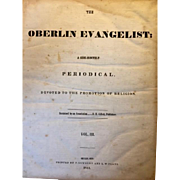 "Antique: The Oberlin Evangelist: vol. 3: 1841: ""Devoted to the Promotion of Religion"""