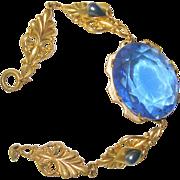 Art Nouveau Bracelet Sapphire Glass