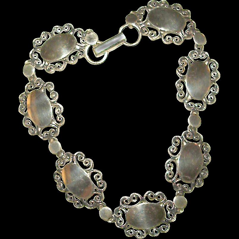 Engravable Silver Link Bracelet by Beau Sterling