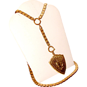 Victorian Gold Filled Book Chain Necklace with Locket