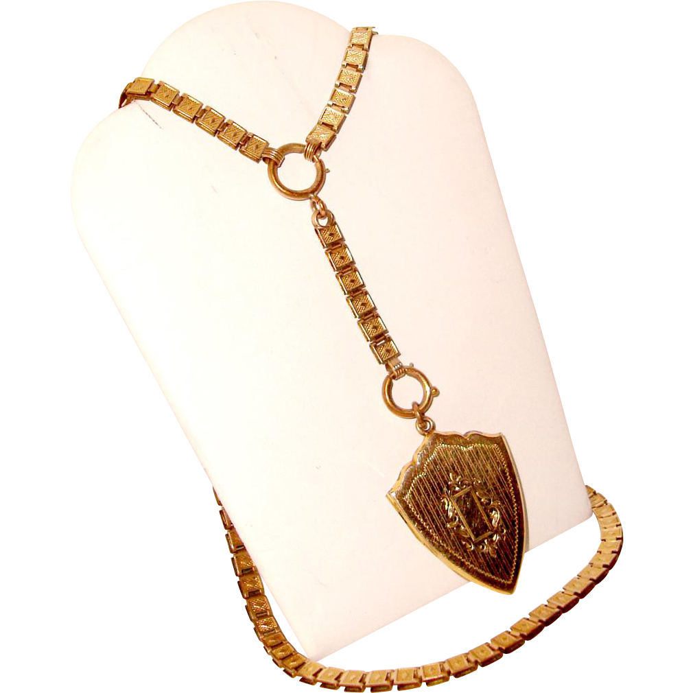 Victorian Book Chain Necklace Double Photo Locket