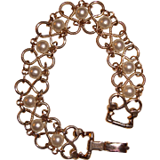 Goldette Pearl Bracelet Infinity Links