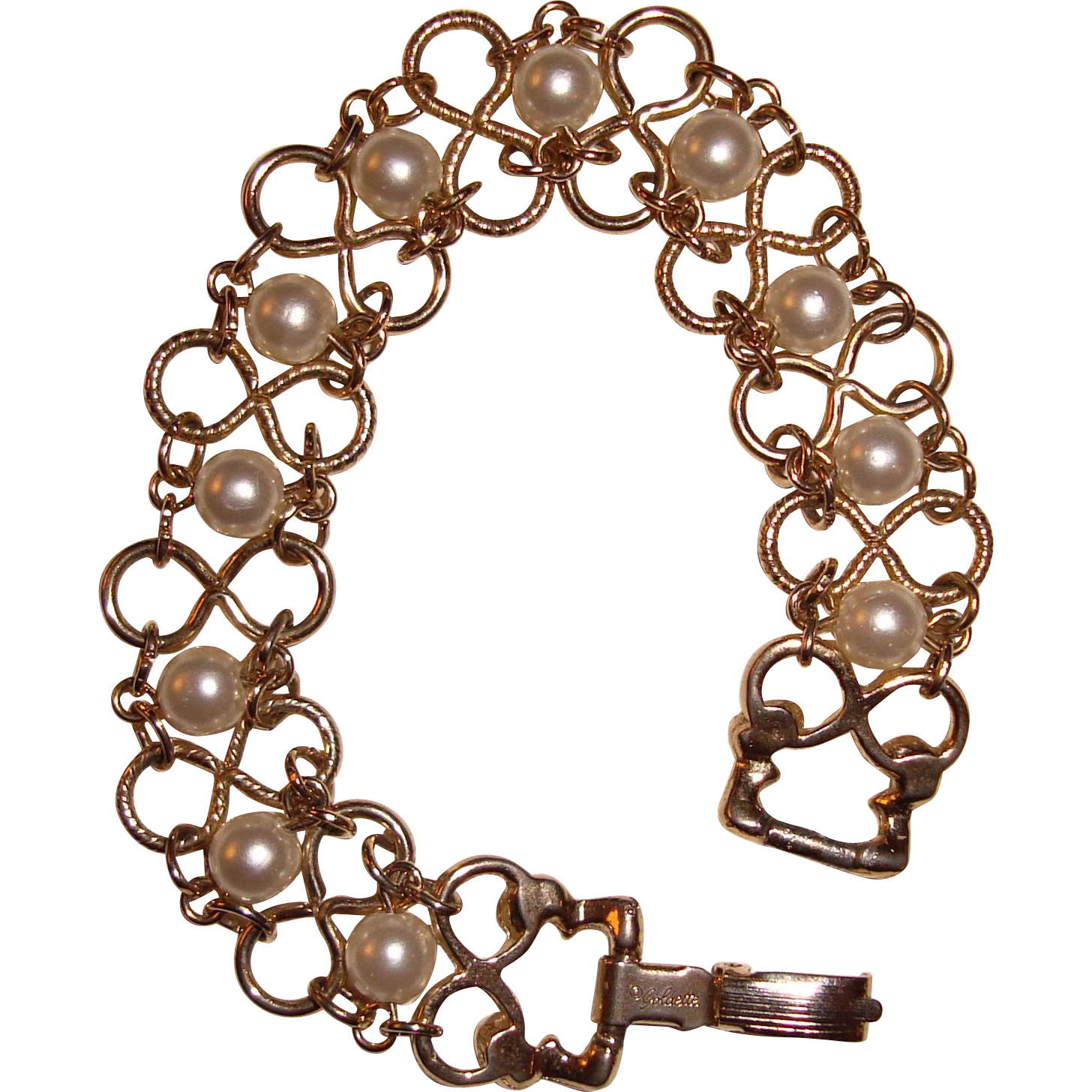 Goldette Pearl Bracelet Infinity Links
