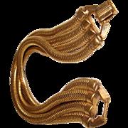 Art Deco Snake Chain Bracelet Serpentine