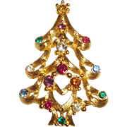 Monet Christmas Tree Pin