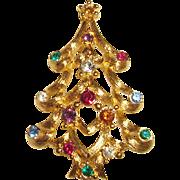 Monet Christmas Tree Pin