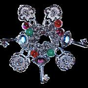 Vintage Charm Bracelet Padlocks Keys