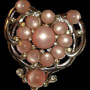 Art Deco Pink Moonglow Beaded Dress Clip