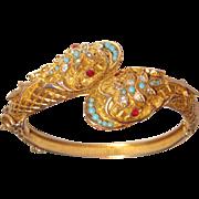 Snake Serpent Bracelet Hinged Bangle Bracelet