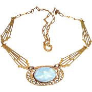 Art Nouveau Necklace Stars Comets Moon