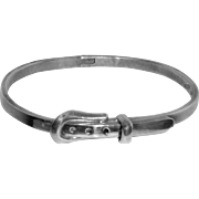 Sterling Buckle Bracelet Mexico 925 Bangle