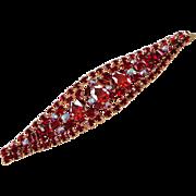 Garnet CZ, Siam Red, Fuchsia & AB Swarovski Rhinestone Bracelet by Elizabeth Cooke