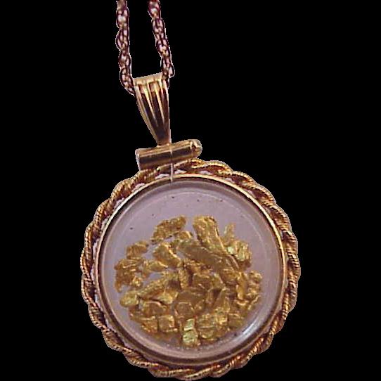 Vintage gold filled gold nuggets flakes pendant necklace from vintage gold filled gold nuggets flakes pendant necklace mozeypictures Image collections