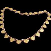 Vintage VB Volmer Bahner Sterling Enamel Hearts Necklace