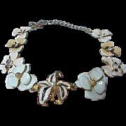 Vintage KJL Kenneth Jay lane Enamel Flower Necklace