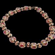 Vintage Venetian Wedding Cake Glass Necklace