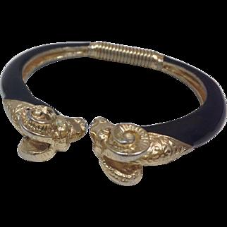 Vintage Donald Stannard Rams Bangle Bracelet