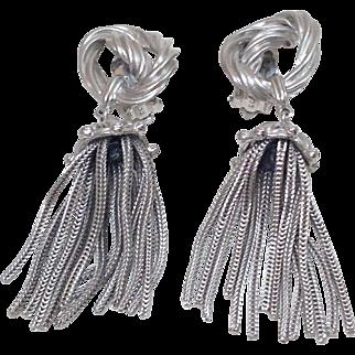 Rare Vintage Schiaparelli Tassel Earrings