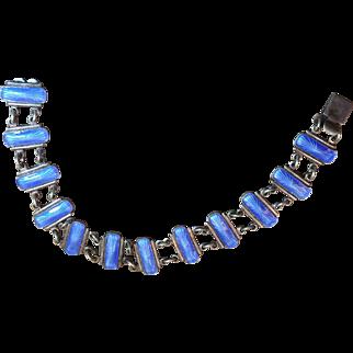 Volmer Bahner VB Sterling Silver Blue Enamel Bracelet