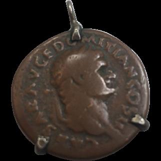 Vintage Roman Coin Pendant