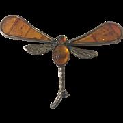 Vintage  Sterling Dragonfly Brooch Pin