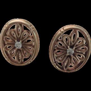 Vintage 10KT diamond Avon Earrings