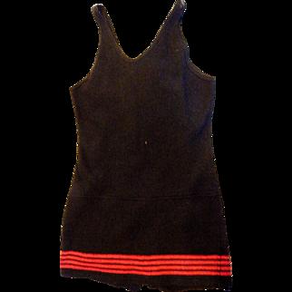 Vintage Wool One Piece Men's Swimsuit