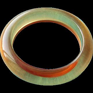 Vintage Bakelite Applejuice Bracelet Bangle
