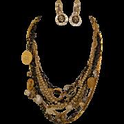 Memories Necklace: Mixed memorabilia, a lifetime