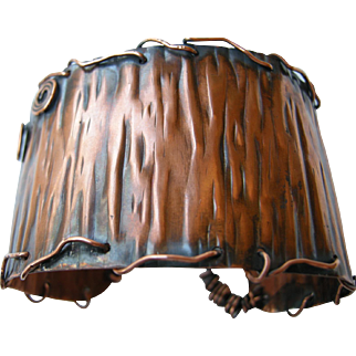 Antiqued Copper Cuff Bracelet