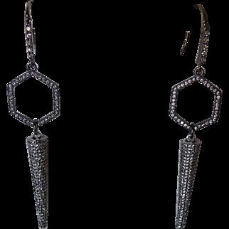Elegant pavé cubic zirconia Earrings