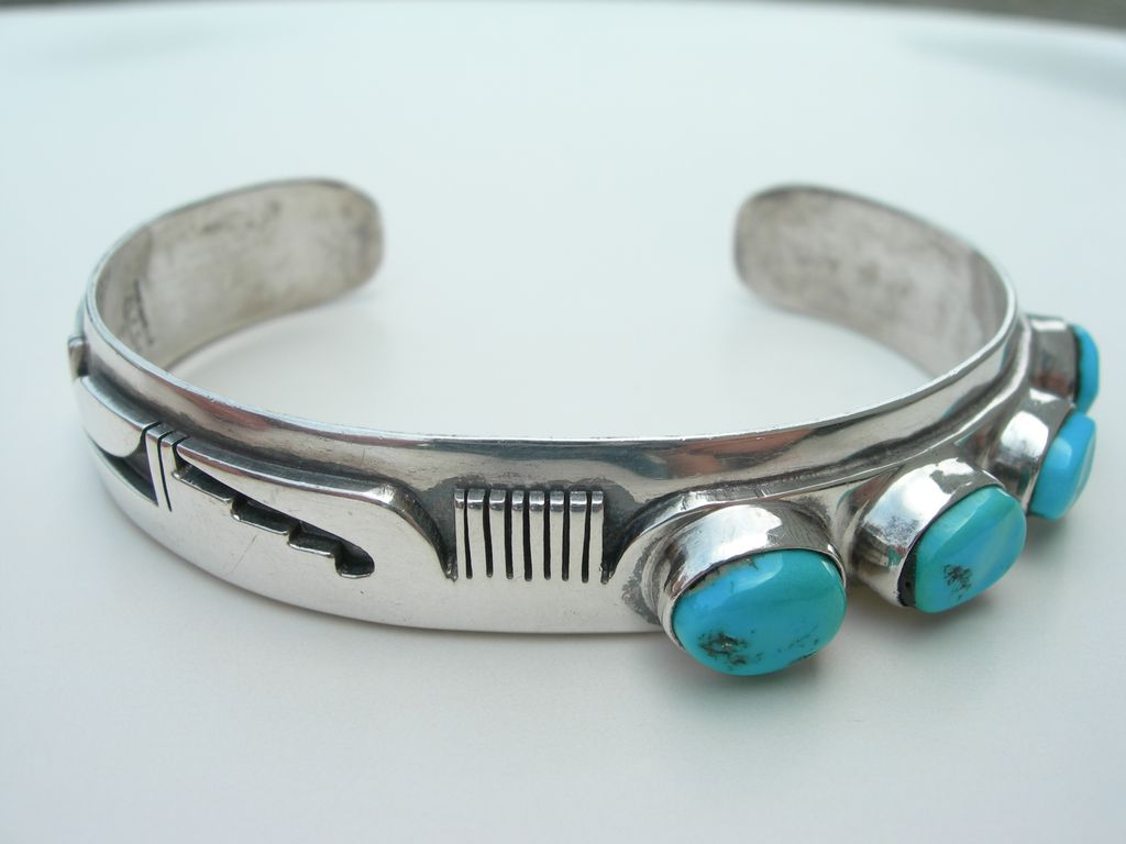 Bennie Ration ~ Navajo Sterling & Turquoise ~ Bracelet