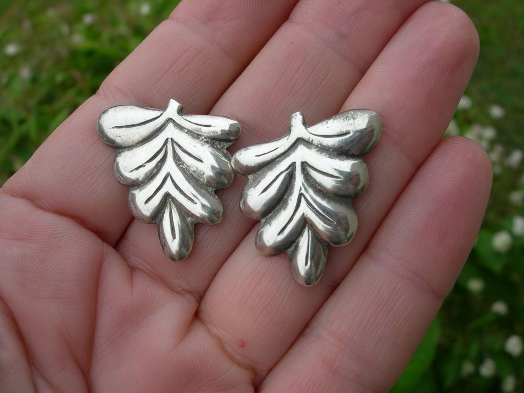 Hector Aguilar –Sterling Silver Earrings – Early Taller Borda Hallmark