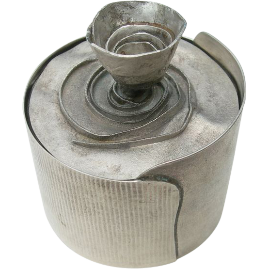 Brian Clarke - Ireland - Sterling Silver - Modernist -Container Jar