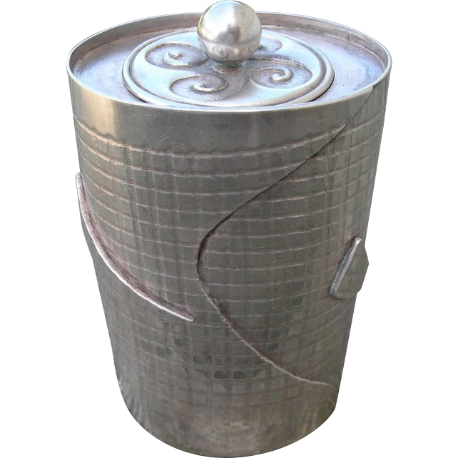Brian Clarke - Ireland - Sterling Silver - Modernist -Container Jar