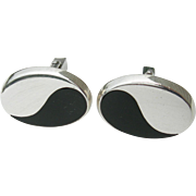 Antonio Pineda – Sterling Silver and Black Onyx - Cufflinks