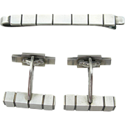 Georg Jensen - Sterling Silver Tie Bar Cufflinks Set - #64