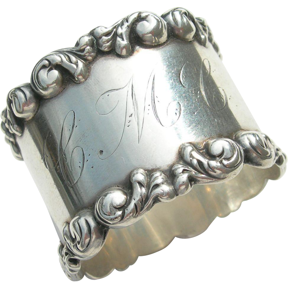 Blackinton Sterling - Napkin Ring - Late 19th Century - CMC Monogram